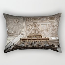 Organ and Ceiling (Cordoba Cathedral) Rectangular Pillow