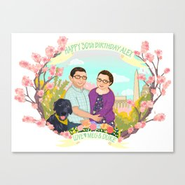 Happy Birthday Alex! Canvas Print