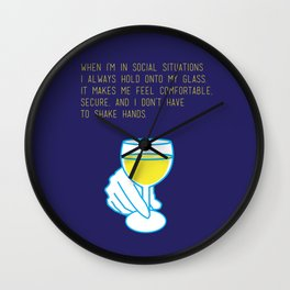 Curb Your Enthusiasm Quote Drinking Awkward Wall Clock