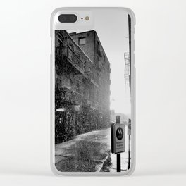 Alleys Climbing Up from the Railway Clear iPhone Case