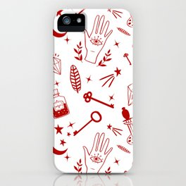 Magic symbols iPhone Case