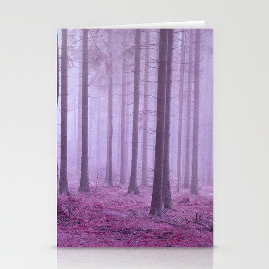 misty trees Stationery Cards