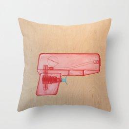 Bang!Bang! SquirtGun Throw Pillow