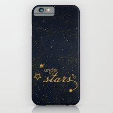 Under the stars- sparkling night typography Slim Case iPhone 6s