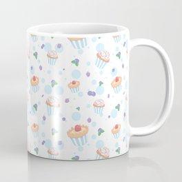 Modern pastel pink blue polka dots berries sweet cupcake Coffee Mug