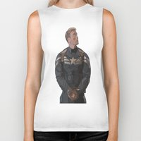 steve rogers Biker Tanks featuring THE PRICE OF FREEDOM - Steve Rogers by Danielle Aragon