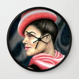 001. Red Bud Wall Clock