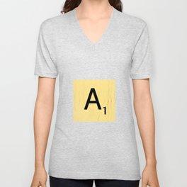 Scrabble A Decor, Scrabble Art Prints, Large Scrabble Prints, Word Wall Art, Home Decor, Wall Decor Unisex V-Neck