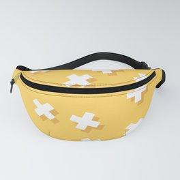 Modern Swiss Cross Yellow Fanny Pack