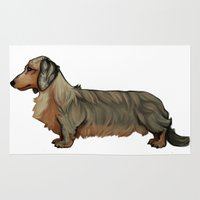 dachshund Area & Throw Rugs featuring Dachshund by Chelsea-Nebelung