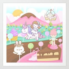 Cake Land Art Print
