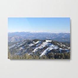 Snowy Boise Mountains Metal Print