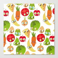 food Canvas Prints featuring Food by Peerro