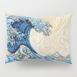 Wave Kanagawa Motive Pillow Sham