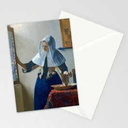 Young Woman with a Water Pitcher by Vermeer Stationery Cards