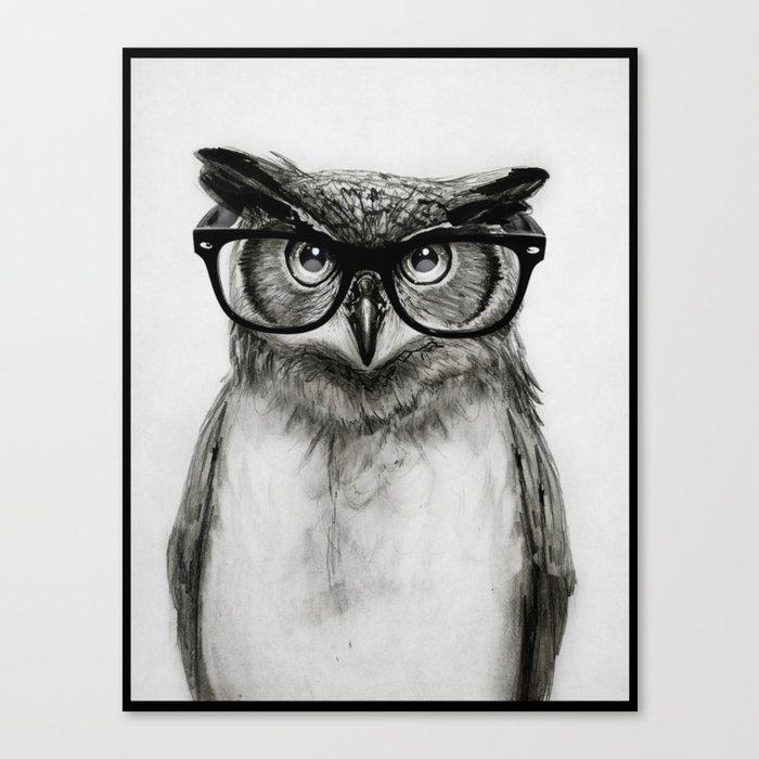 Mr. Owl Leinwanddruck