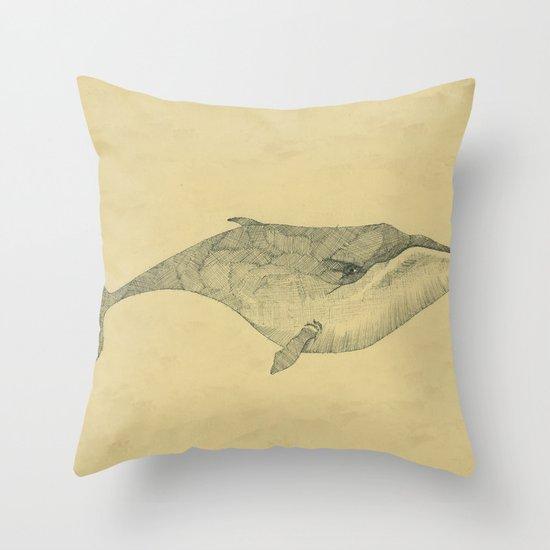 White Whale Throw Pillow