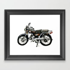 Motorcycle (Red & Black) Framed Art Print