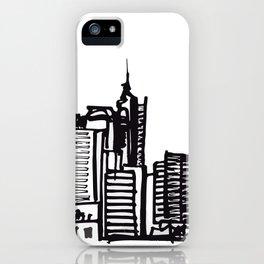 City Landscape monochromatic iPhone Case