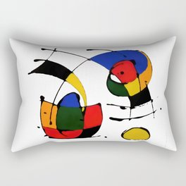 In the Style of Miro Rectangular Pillow