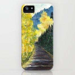 Autumn Mountain Road iPhone Case