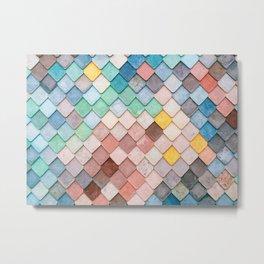 Bricks Full of Color Metal Print