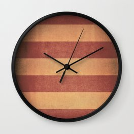 Vintage red striped deck chair cover Wall Clock