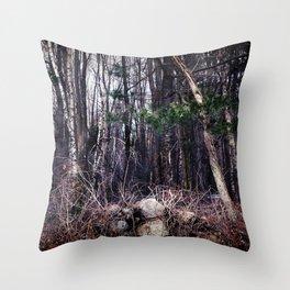Fallen Birch Throw Pillow