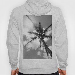 Tropical Palm Trees Black and White Hoody