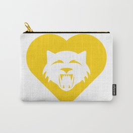 Wildcat Mascot Cares Yellow Carry-All Pouch
