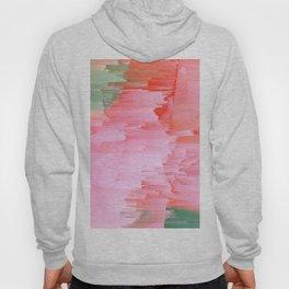 Romance Glitch - Pink & Living coral Hoody