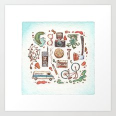 Collection of Strange Things Art Print