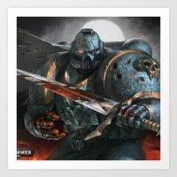 warhammer Art Prints featuring Warhammer Soldier by Tom Lee