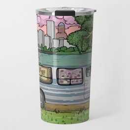 Live In A Van Down By The River (Colored) Travel Mug