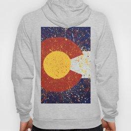 Splatter Colorado Flag Art Hoody
