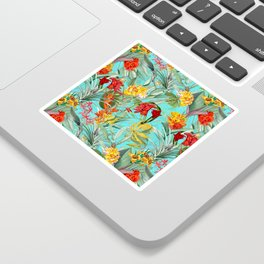 Vintage & Shabby Chic - Colorful Tropical Blue Garden Sticker