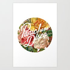 Panic! at the disco round vintage flowers Art Print