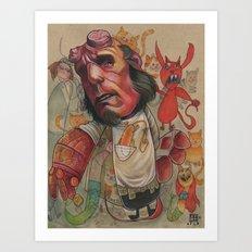 AT THE PET SHOP Art Print