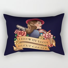 Agent Carter Vintage Tattoo Dark Rectangular Pillow