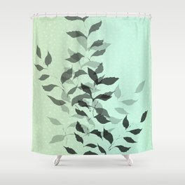 First Snowfall #snow #botanical Shower Curtain