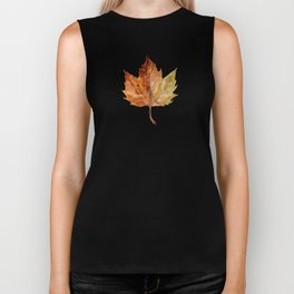 Brown and leaves Biker Tank