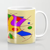 kandinsky Mugs featuring Abstract #206 by Ron Trickett