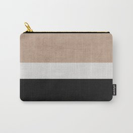 classic - natural, cream and black Carry-All Pouch