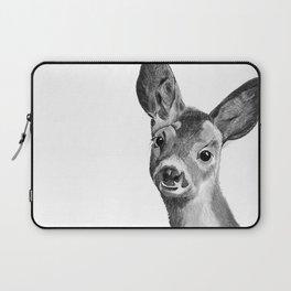 Baby deer in black and white Laptop Sleeve