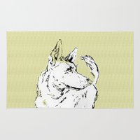 howl Area & Throw Rugs featuring Howl Along by baobabdesigns