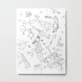 When THINGS Attack! Metal Print