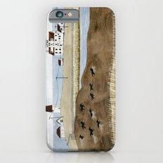 Seashore lighthouse and wild horses iPhone 6s Slim Case
