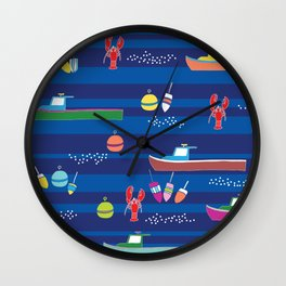 Lobster Boats Wall Clock