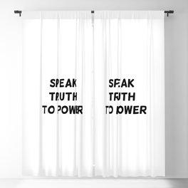 Speak Truth To Power Blackout Curtain