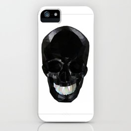 Skull Black Low Poly iPhone Case